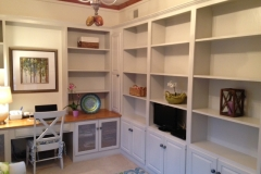 Interior Den with Bookcases