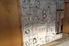 Custom art wall in gameroom