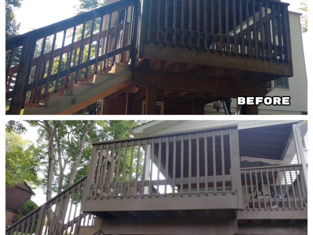 fresh paint before and after of porch