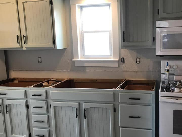 Repainting Kitchen Cabinets